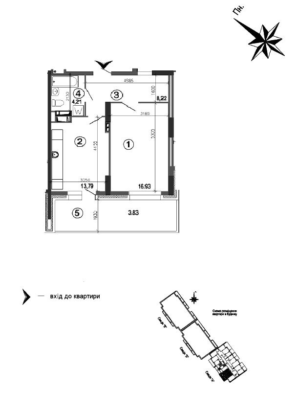 Квартира 1к, тип 1А10